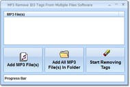 MP3 Remove ID3 Tags From Multiple Files Software screenshot